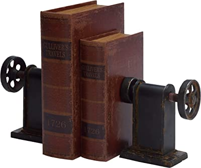 Deco 79 Metal Bookends, 8 by 7-Inch