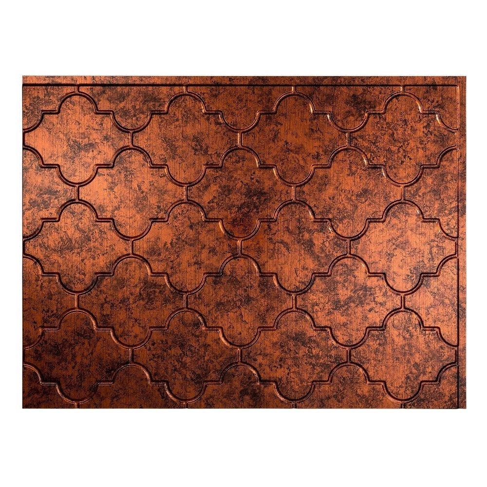 - Fasade Easy Installation Monaco Moonstone Copper Backsplash Panel