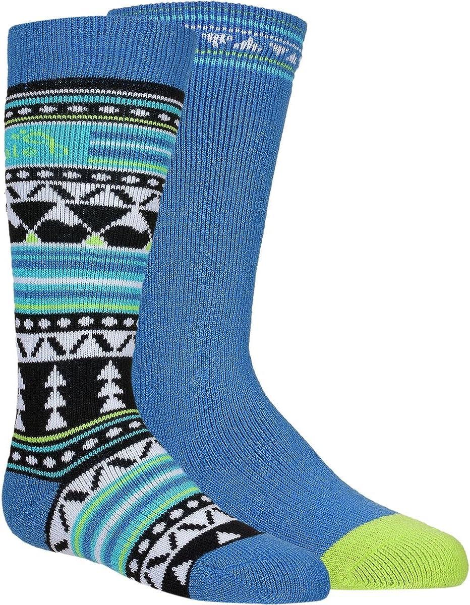 Bridgedale Merino Ski Sock - 2-Pack - Kids' Black/Blue, S