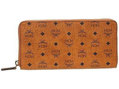 MCM Visetos Original Zipped Wallet Large (Cognac) Bags