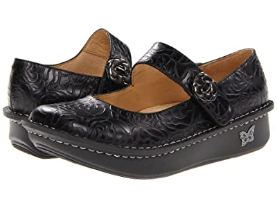 Alegria Paloma (Black Embossed Rose) Women
