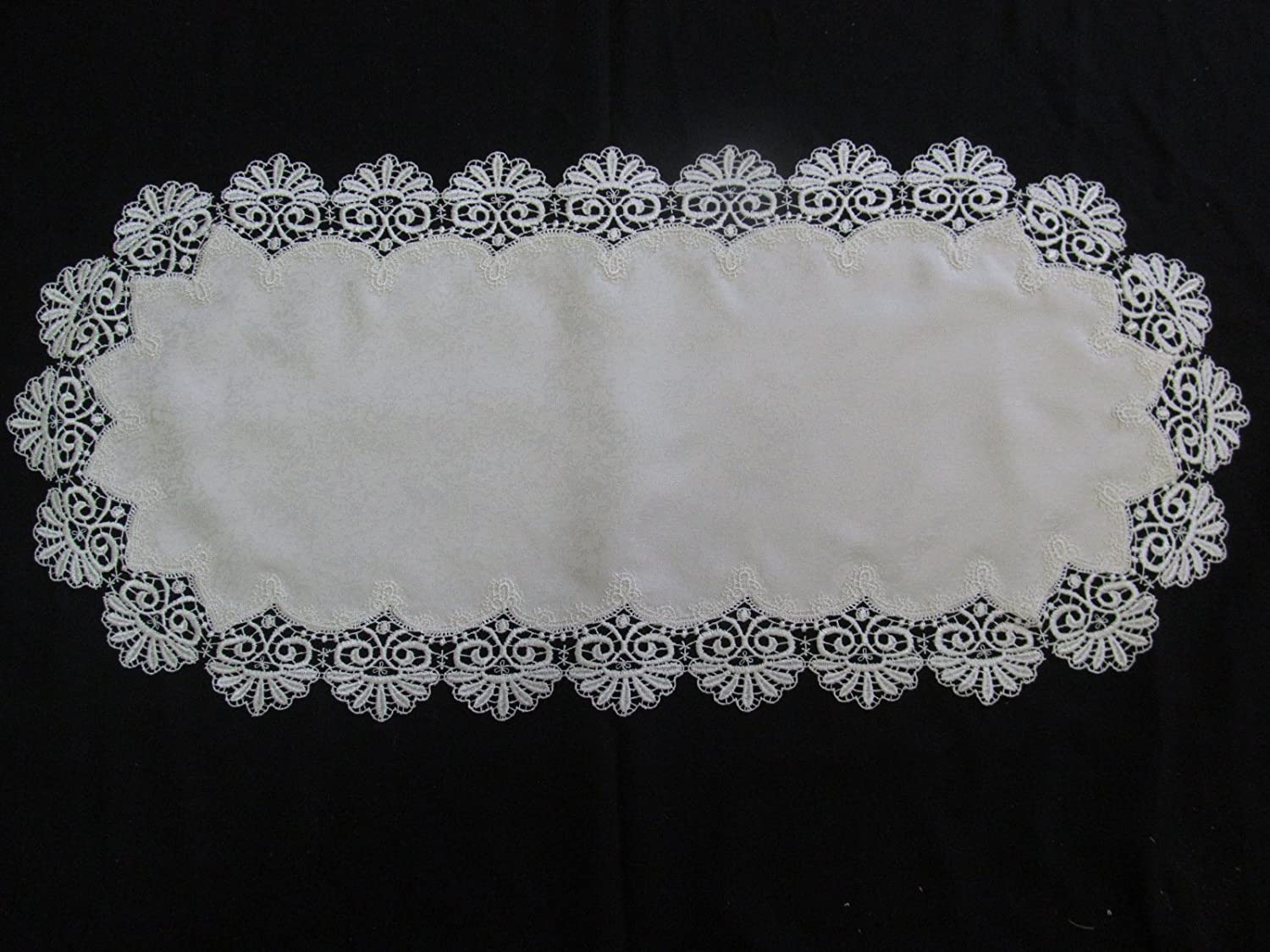 Place Mat or Doily security in Bleached and Lace Spasm price Fancy Whi White
