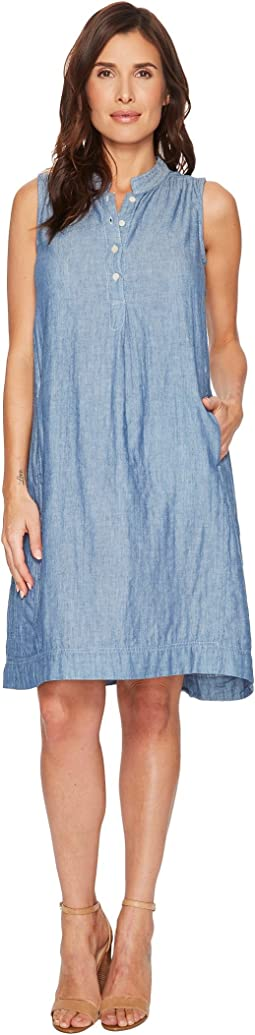 Dylan by True Grit Denim Double Cloth Hallie Dress with Pockets