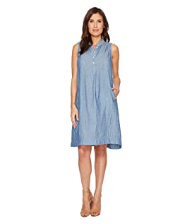 Denim Double Cloth Hallie Dress with Pockets