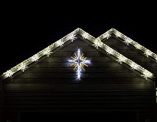 Fraser Hill Farm FFCHLED051-STR0-WT Christmas Giant Outdoor LED Lights, 4-Ft. Bethlehem Star in Pure White/Gold (51