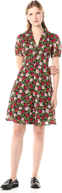 mart Betsey Johnson Women's Button Max 54% OFF Dress Front