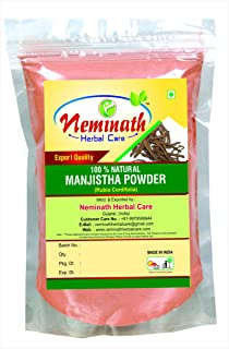 100% Natural Manjistha Root Powder as HAIR COLORANT (RUBIA CORDIFOLIA) NATURALLY by Neminath Herbal Care (0.22 lb)/3.5 oun...