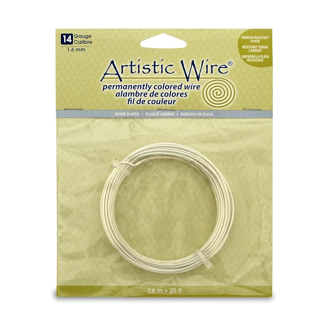 Artistic Wire 14S Gauge Wire, Tarn Resist Silver, 25-Feet