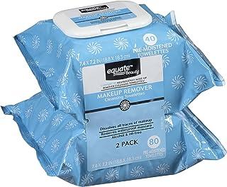 حوله های پاک کننده Equate Makeover Remover، 40 Ct، 2 Pk