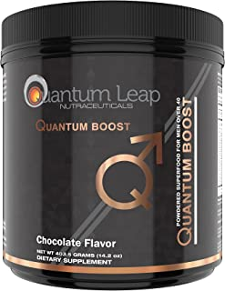 Green Juice Superfood Plus for Men Over 40- Delicious Rich Double-Chocolate. NO Sugar-NO Mint-NO GRIT! 30 Day Supply.