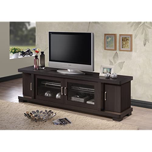 Tv Stand With Glass Door Amazon Com