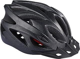 Black Hudora Bicycle Helmet Basalt Womens Mens Bicycle Helmet Cycling Helmet Size 49-63