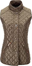 Bellivera Women's Stand Collar Lightweight Gilet Quilted Puffer Padded Zip Vest Jacket for Spring Fall and Winter