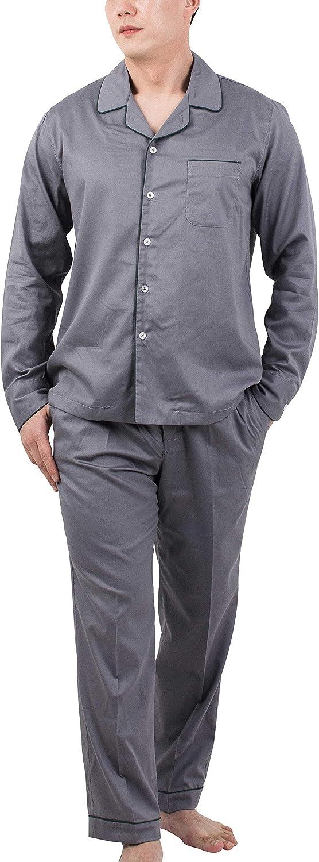 Asleep Premium Pajamas for Mens Very Fashionable Sleepwear Cotton Pajamas Sets Long Sleeve Loungewear Nightwear