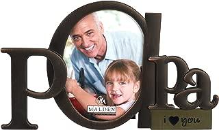 Malden International Designs Bronze Script Papa Picture Frame, 3.5x4.5, Bronze