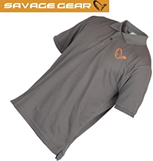 63a9a8339 Savage Gear Simply Savage Polo Shirt Grey
