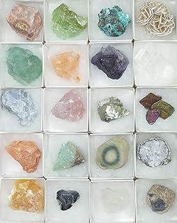Colección de minerales 20 piedras curativas piedras preciosas, 25-50 mm cada una.
