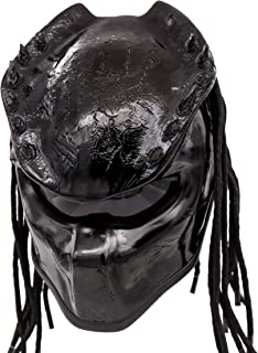 Predator Motorcycle Helmet - DOT Approved - Unisex - Black Spiked