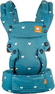 Baby Tula Explore Baby Carrier 7-45 lb, Adjustable Newborn to Toddler Carrier, Multiple Ergonomic Positions Front and Back, Breathable - Playdate (Blue with White Hearts)