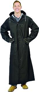 """Galeton 12560-XL-BK Repel Rainwear 0.35 mm PVC 60"""" Raincoat for More Coverage, XL, Black"""