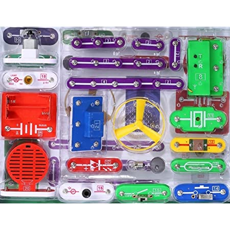 EZLink 335 DIY Circuit Experiments,Science Kits,Electronic Discovery Kit Toy for Kids,Kids Circuits,Kids Circuit Kit,Science Experiments For Kids,Experiments For Kids,Science Experiment Kits For Kids