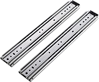 Friho 1 Pair of 36 Inch Heavy Hardware Ball Bearing Side Mounted Drawer Slides, Full Extension, Available in 20'',22'',24'',36'',48'',60''Lengths