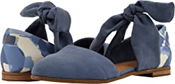 Infinity Blue Suede/Abstract Leaf/Bow