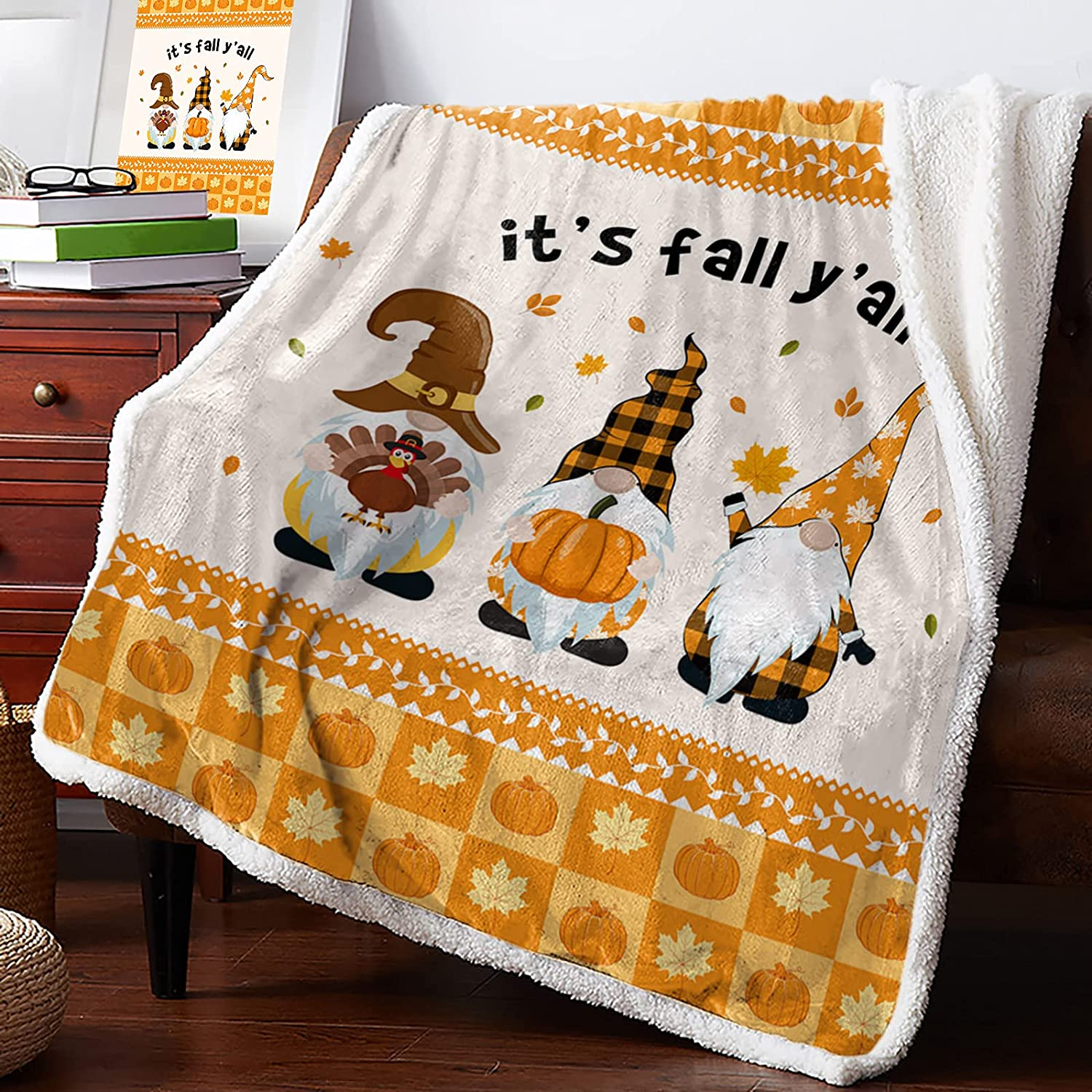 Sherpa Fleece Blanket 60x80 In Plush Reversible High quality new Max 60% OFF f Soft