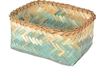 Compactor Home RAN7992 Panier Tie & Dye, Bambou, Turquoise, 26 x 19 x 12 cm