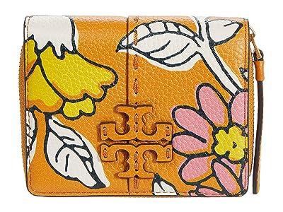 Tory Burch McGraw Printed Bifold Wallet (Rust Wallpaper Floral) Handbags