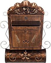 LB6028 Antieke, grote en zeer elegante brievenbus, brons, aan de muur, brievenbus, vintage Engelse brievenbus, metaal, 49 ...