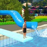 エクストリームウォーターパークスライド:子供のための上り坂ラッシュサマースポーツゲーム