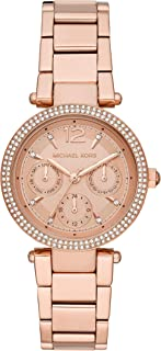 Michael Kors Womens Quartz Watch, Chronograph Display and Stainless Steel Strap MK6352