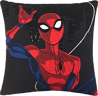 Jay Franco Marvel Spiderman Webbed Wonder Kids 3 Piece Storage Set Includes Plush Throw, Pillow, Collapsible Storage Bin (Official Marvel Product)