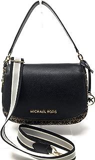 Michael Kors Bedford Medium Convertible Flap Shoulder Crossbody Bag - BGE/BLK