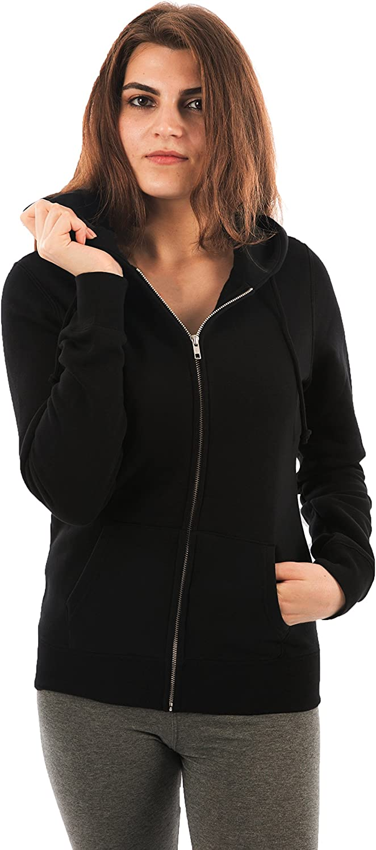 FORBIDEFENSE Brand new Women Fleece Hoodies Max 53% OFF Sleeve-Front Full Zip Premium
