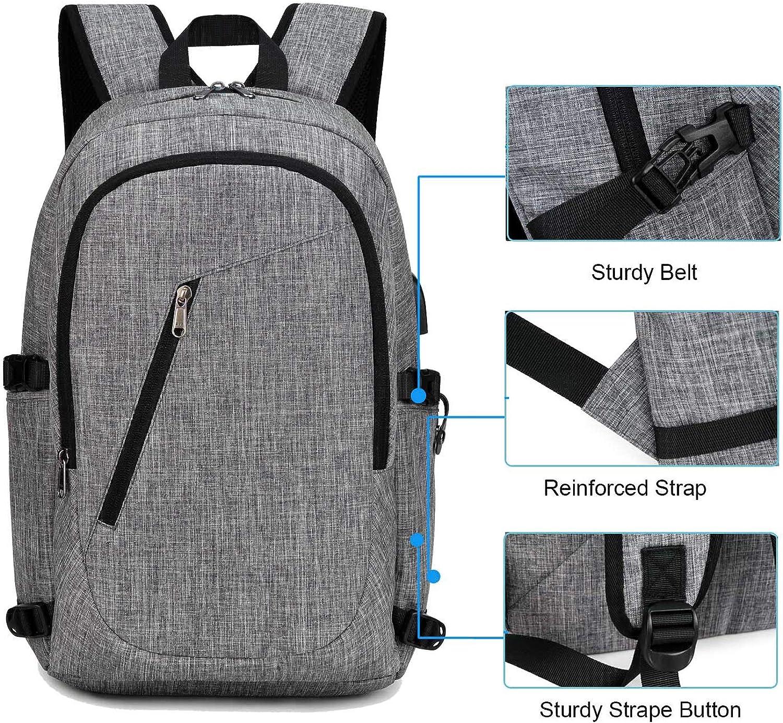 XQXA Zaino per laptop da uomo zaino da scuola da 15,6 pollici zaino da trekking per il tempo libero
