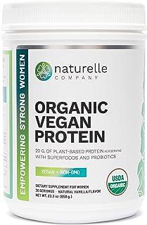 Naturelle Organic Vegan Protein - USDA Certified Organic Plant-based Protein Powder - Brown Rice, Pumpkin, Pea & Hemp Prot...