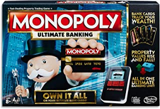 Monopoly - Ultimate Electronic Banking - 2 to 4 Players - Family Board Games - Ages 8+