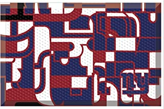 NFL New York Giants NFL-New Giantssc Mat, Team Color, One Size