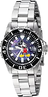 Women's Disney Limited Edition Quartz Watch with Stainless-Steel Strap, Silver, 15.4 (Model: 25570)