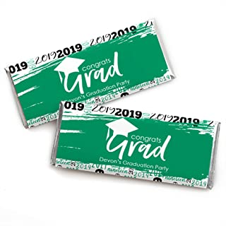 Personalized Green Grad - Best is Yet to Come - Custom Green 2019 Graduation Party Favors Candy Bar Wrapper - Set of 24