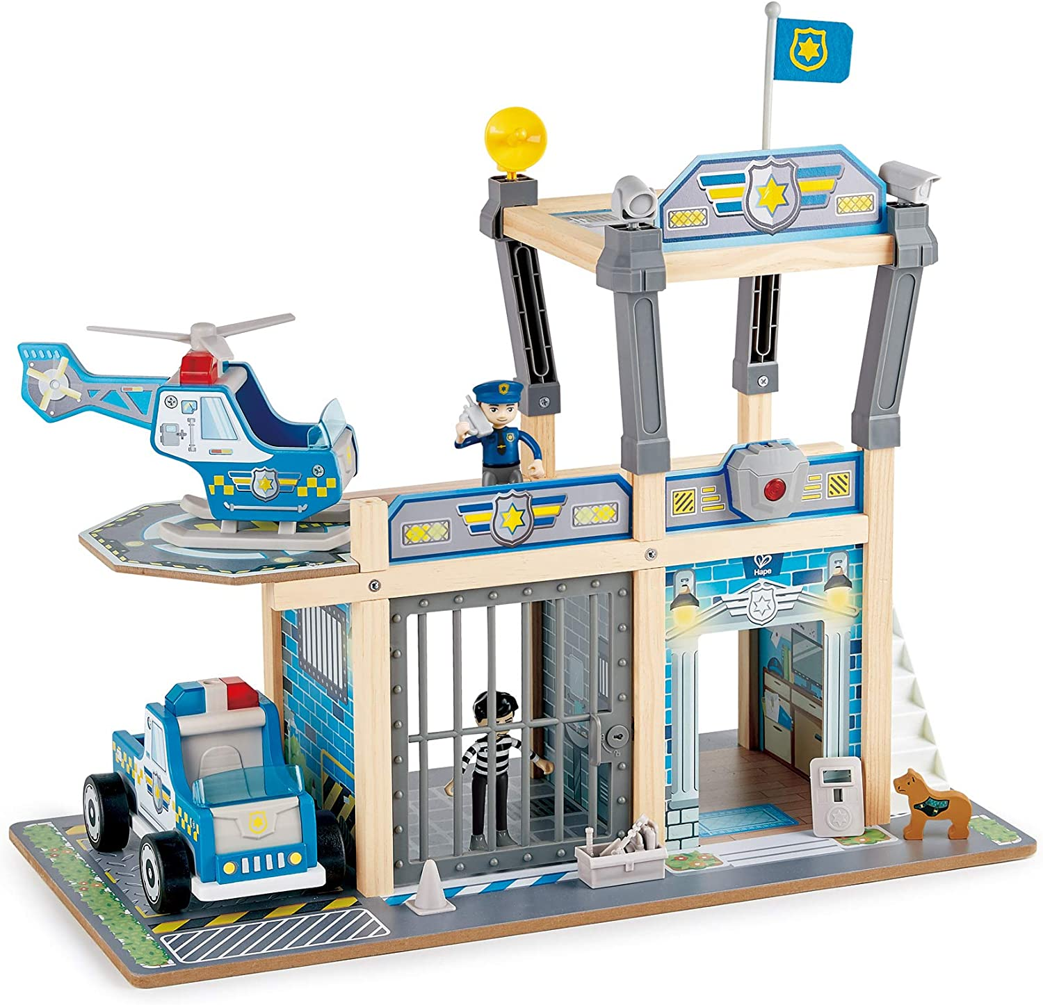 Hape Over Limited Special Price item handling Metro Police Station Playset