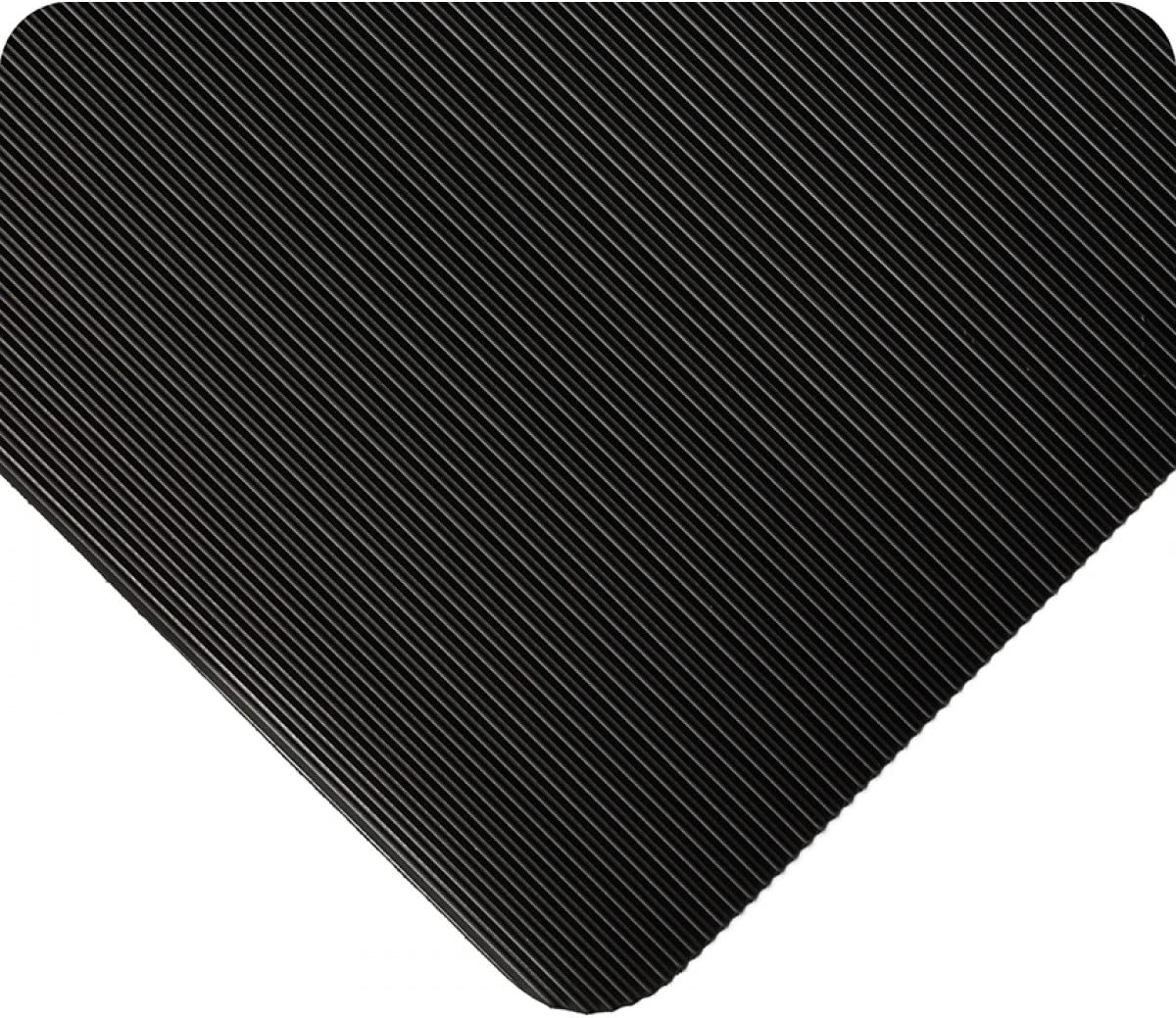 Standard Long-awaited Corrugated Vinyl Runner 3' 110' x Black Mat Floor low-pricing