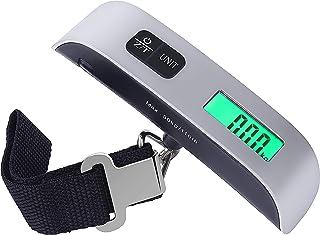 comprar comparacion Portátiles Escala de Equipaje Básculas Electrónicas de Maleta Peso Ligero para Viajar de Hasta 110 lb/50KG con Función de ...