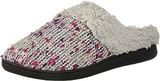 شبشب Dearfoams Women's Tweed Knit Clog في عرض واسع
