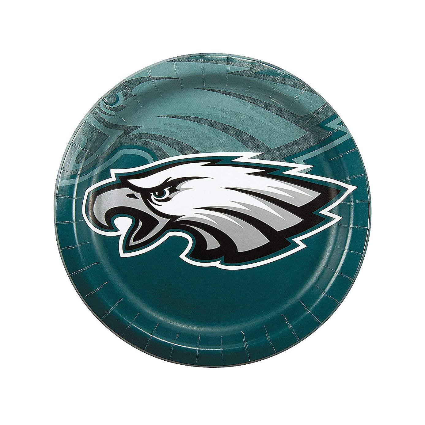 Fun Express - Nfl Philadelphia Eagles Dinner Plates for Party - Party Supplies - Licensed Tableware - Licensed Plates & Bowls - Party - 8 Pieces