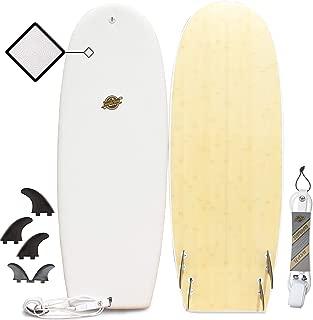 Hybrid Surfboard - Best Performance Foam Surfboard for All Levels of Surfing - Custom Longboard & Shortboard Surfboard Shapes for Kids and Adults - Wax Free Soft Top + Fiberglassed Hard Bottom