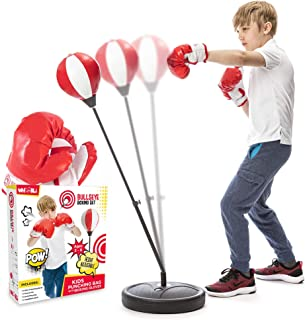 Whoobli Punching Bag for Kids Incl Boxing Gloves | 3-8 Years Old Adjustable Kids Punching Bag with Stand | Boxing Bag Set ...