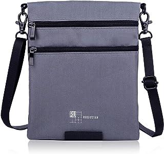 RUBEUSTAN [Amazon限定ブランド] パスポートケース カバー 首下げ スキミング防止 セキュリティ ポーチ ショルダー
